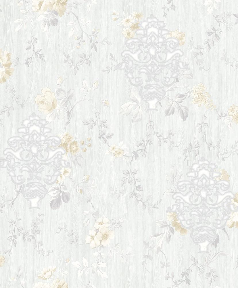 Papel de Parede London Floral Damask AC5004 - Rolo: 10m x 0,53m