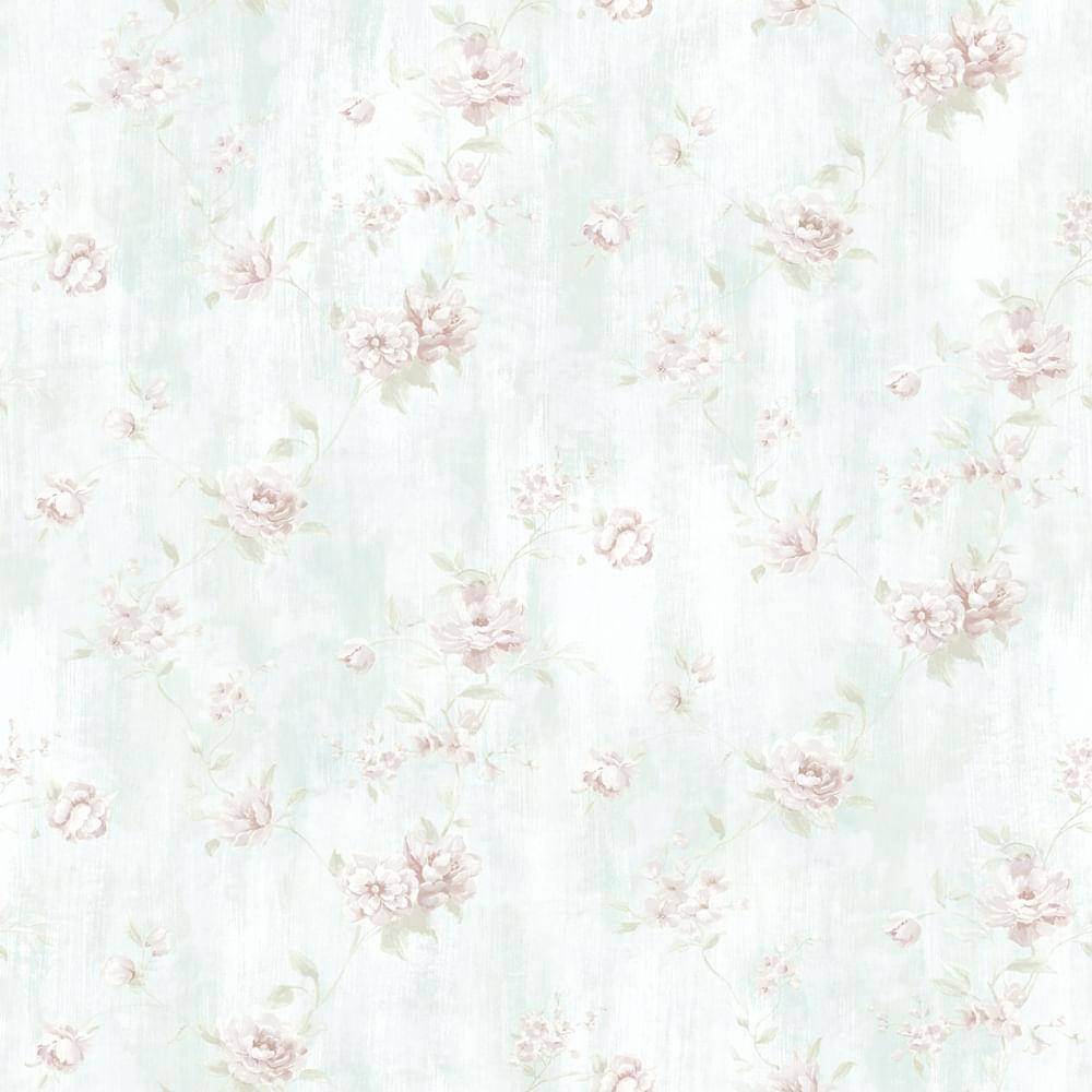 Papel de Parede London Flores Delicadas AC1003 - Rolo: 10m x 0,53m