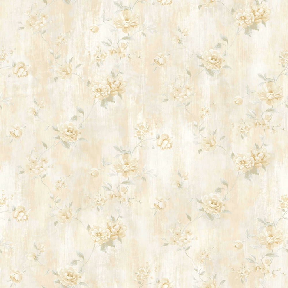 Papel de Parede London Flores Delicadas AC1001 - Rolo: 10m x 0,53m
