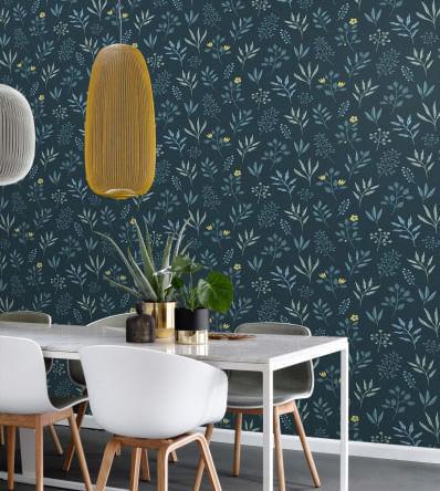 Papel de Parede Scandi Cool Floral 139082 - Rolo: 10m x 0,53m