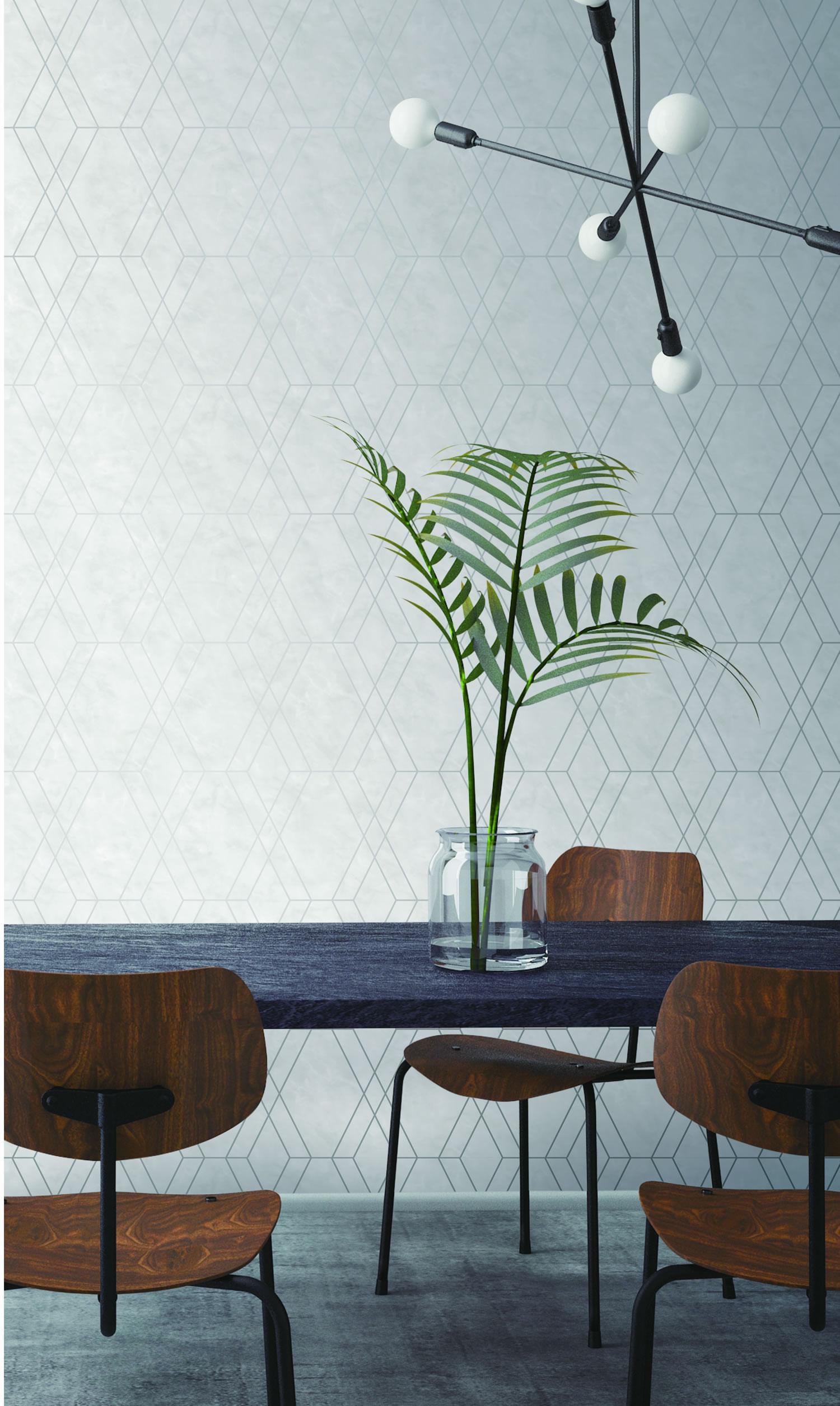 Papel de Parede Modern Maison Geometria em Mármore MM557703 - Rolo: 10m x 0,52m