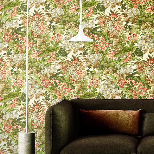 Papel de Parede Beaux Arts 2 Vibrant Flower BA220021 - Rolo: 10m x 0,53m