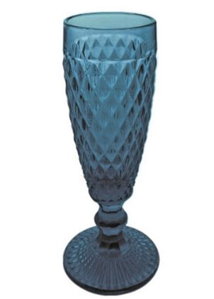 Jogo De 6 Taças Para Champagne  Azul Verre 250ML TC13817
