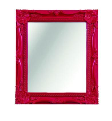Espelho Vermelho Grande Moldura Decorada Flash  25x30- 2960