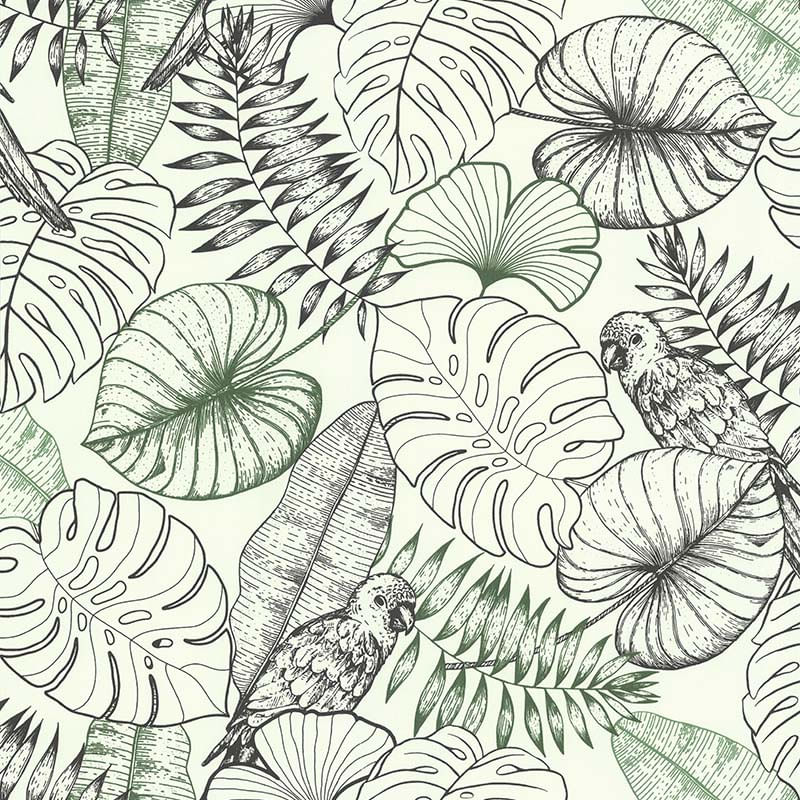 Papel de Parede Sejours Et Chambres Tropical 51193409 - Rolo: 10m x 0,53m