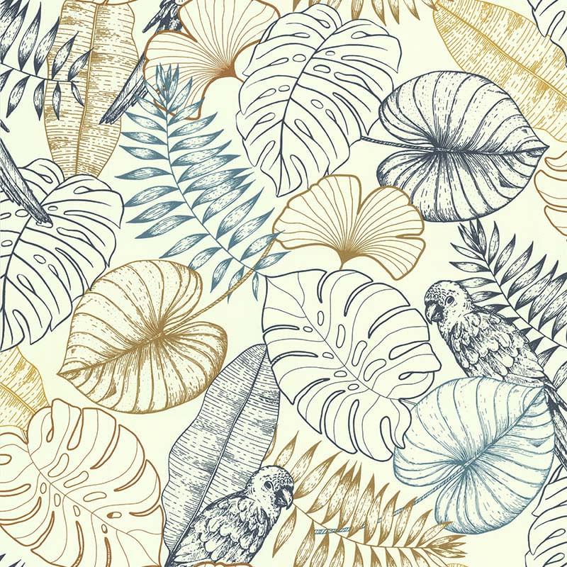 Papel de Parede Sejours Et Chambres Tropical 51193401 - Rolo: 10m x 0,53m