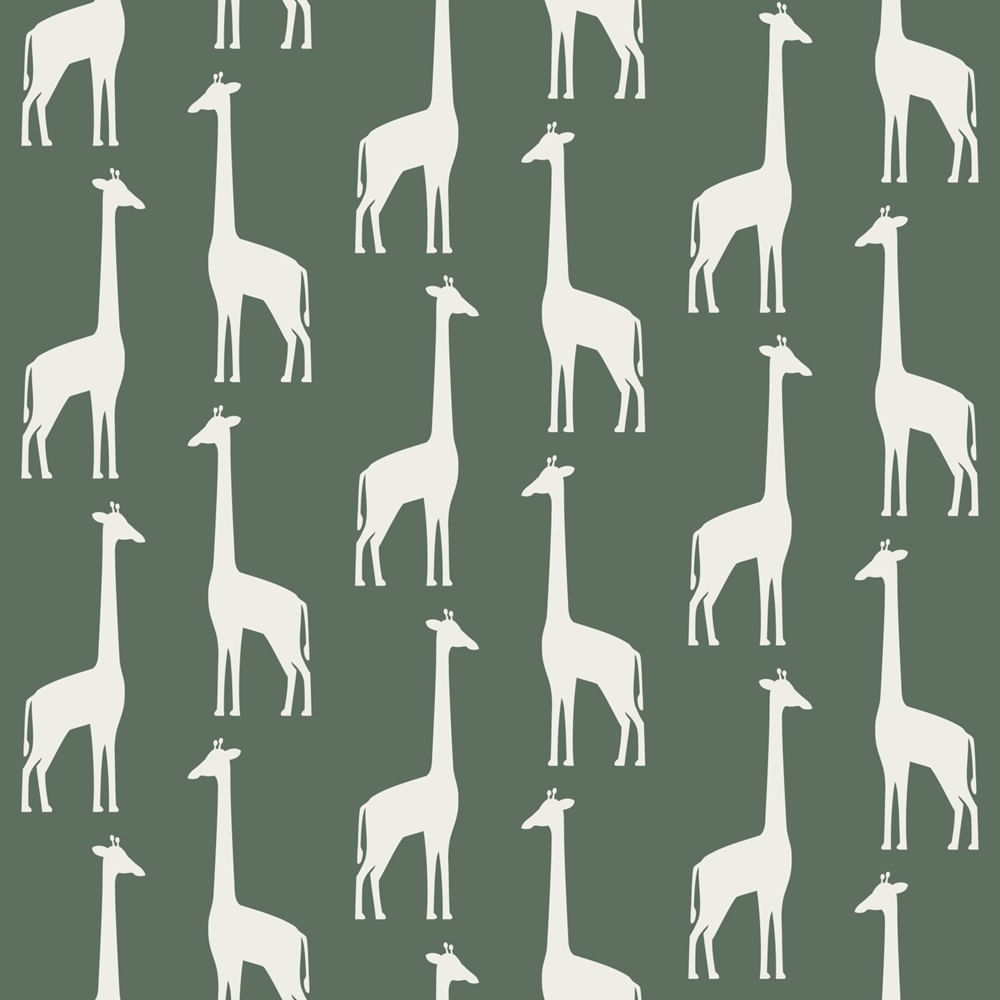 Papel de Parede Let's Play Girafas 153139060 - Rolo 10m x 0,53m