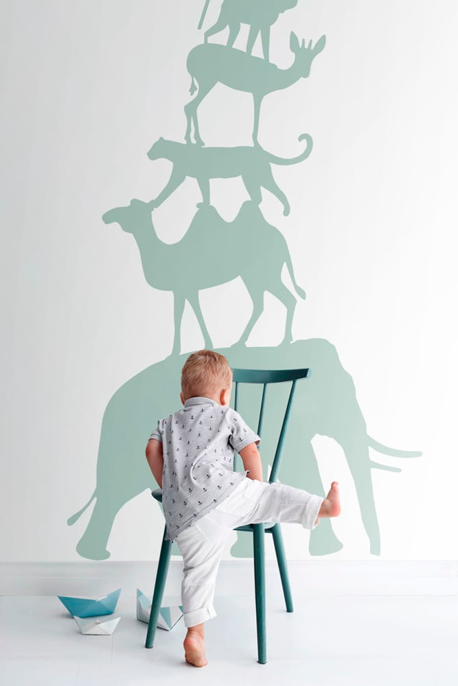 Mural de Parede Let's Play Animais 153158921 - Tam. 2,79m x 1,50m