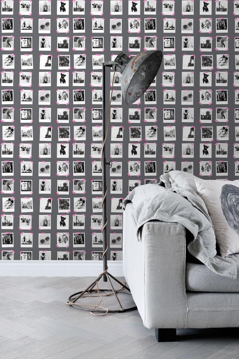 Papel de Parede FAB Polaroid Pictures 138848 - Rolo 10m x 0,53m
