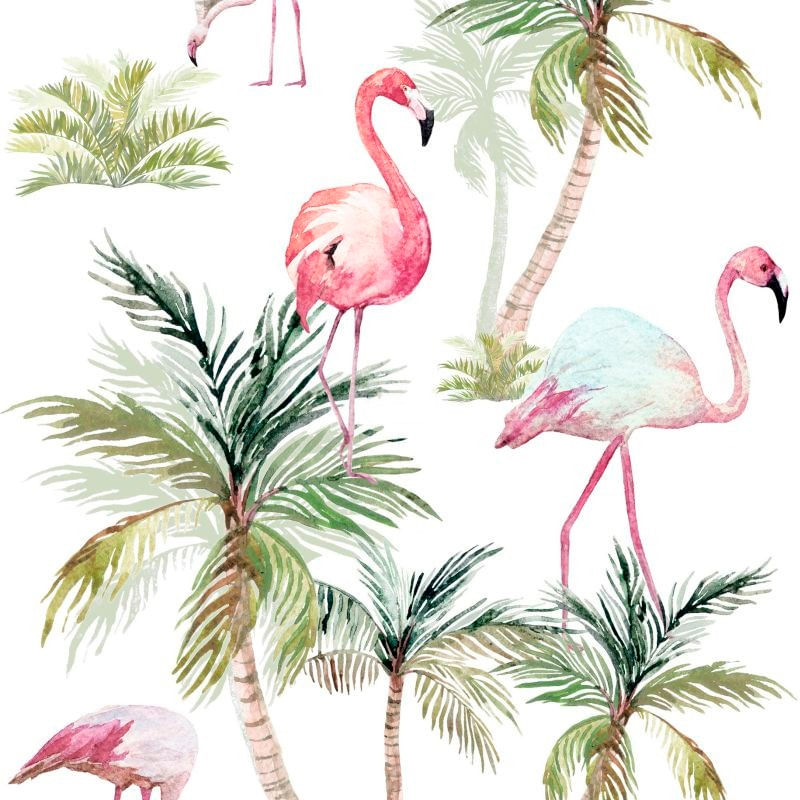 Papel de Parede Regatta Crew Flamingos 158844 - Rolo 8,37m x 0,46m