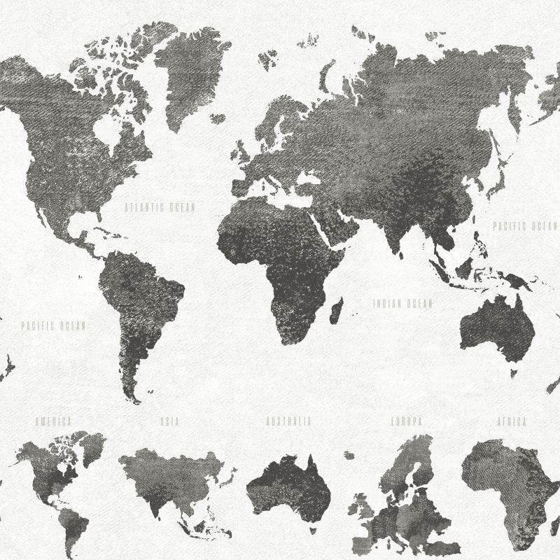 Papel de Parede Regatta Crew Mapa do Mundo 138973 - Rolo 10m x 0,53m