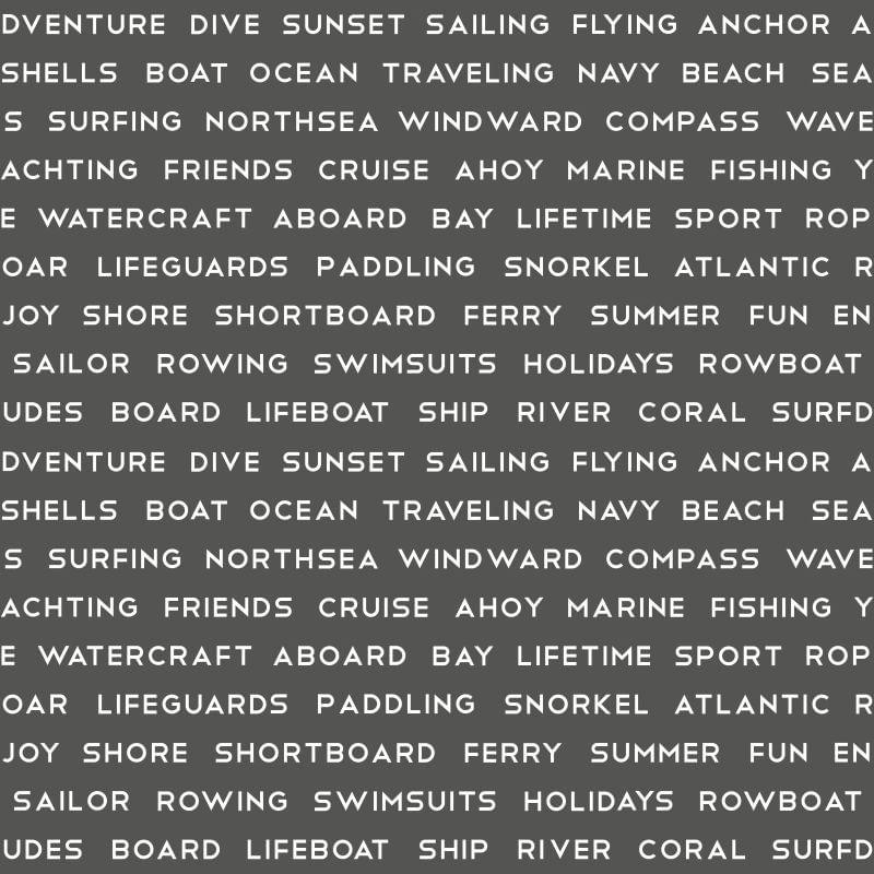 Papel de Parede Regatta Crew Texto Marítimo 138962 - Rolo 10m x 0,53m