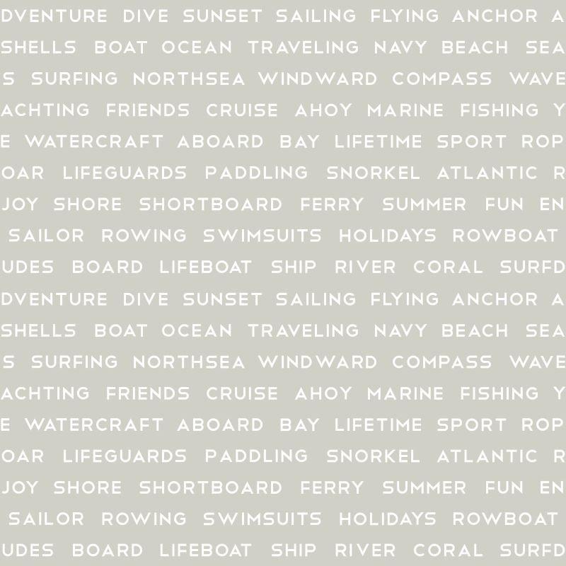 Papel de Parede Regatta Crew Texto Marítimo 138958 - Rolo 10m x 0,53m