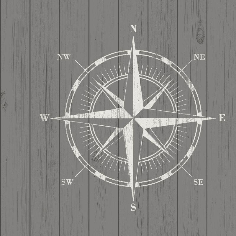 Papel de Parede Regatta Crew Rosa dos Ventos 138976 - Rolo 10m x 0,53m