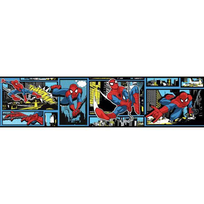 Faixa de Parede Quadrinhos Homem-Aranha PROMODY0251BD - 1 rolo disponível